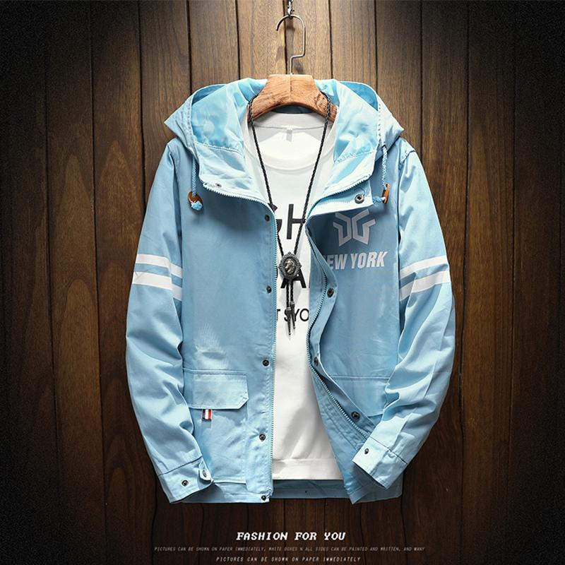 Spesifikasi Musim Gugur Dan Musim Dingin Korea Fashion Style Hoodie Pria Jaket H16 Langit Biru Beserta Harganya